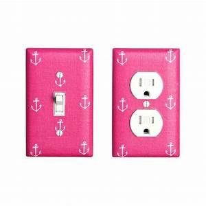 Baby Outlet Nrw : raspberry pink anchor outlet cover girls nursery by sskdesigns girl nursery ~ Watch28wear.com Haus und Dekorationen