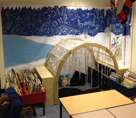 Reception Book Corner Winter Theme Chill Out With A Good Book #book Corner #reception #eyfs