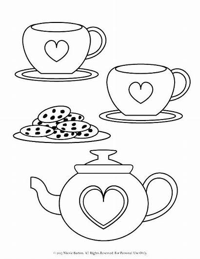 Tea Coloring Pages Printable Fancy Nancy Cup
