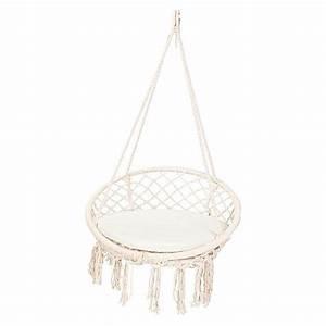 Fauteuil Suspendu Macramé : macrame outdoor hanging chair pinterest chaise suspendue chaise et ~ Teatrodelosmanantiales.com Idées de Décoration