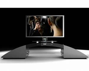 meuble home cinema 21 soundvision sv 1800b avec station With meuble tv avec home cinema integre