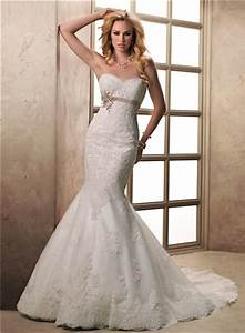 fit and flare mermaid sweetheart lace wedding dress with With lace fit and flare wedding dress