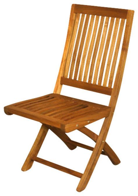 solid teak folding outdoor patio garden chair