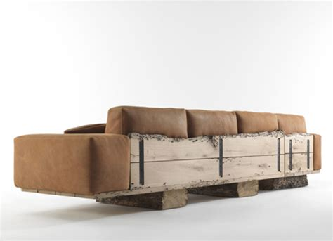 canape cuir et bois best rustic sofas and couches for the cottage furniture