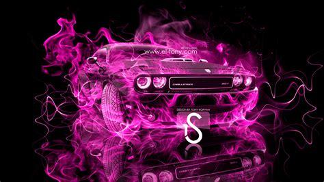 dodge challenger fire car  el tony
