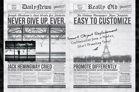 Classic Newspaper Template vintage newspaper flyer template flyer templates on