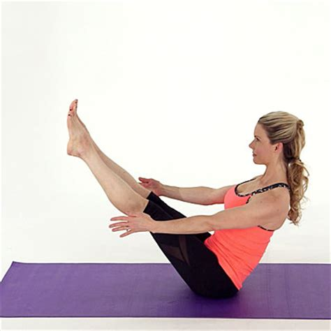 Boat Pose Rows by Inhale And Scoop Your Abs In Deeper Towards Your Back And