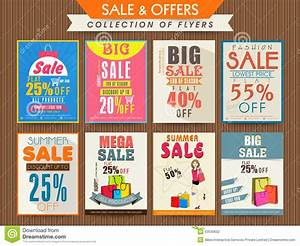 Big Sale Flyers Collection. Stock Illustration - Image ...