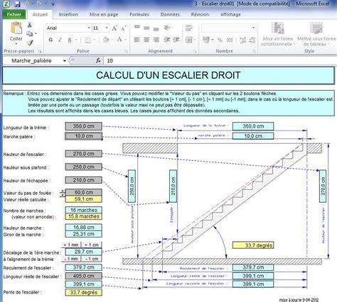 calcul escalier en ligne macros vba