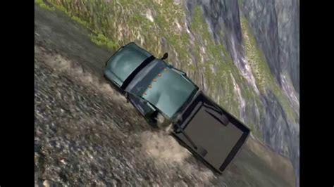 Car Rolling Down Mountain