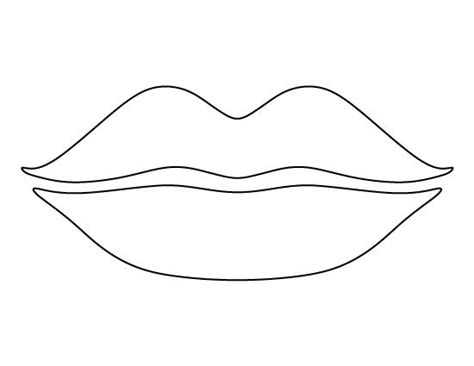 lips template coloring pages