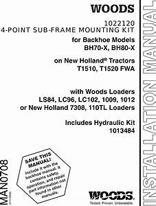 Woods Equipment 1022120 Users Manual Sub Frame Mounting