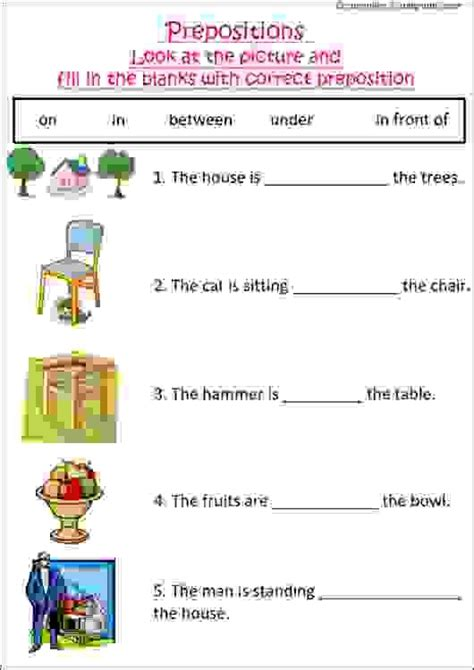 grammar worksheet with pictures to practice