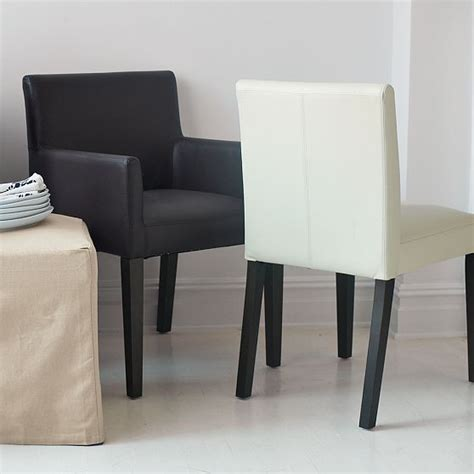 porter leather dining chairs modern dining chairs by