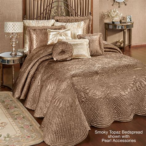 bedspreads and quilts portia ii smoky topaz quilted oversized bedspread bedding