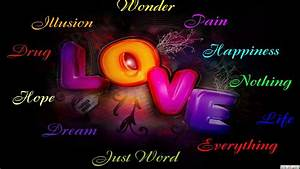 Free words of love wallpaper 1920x1080