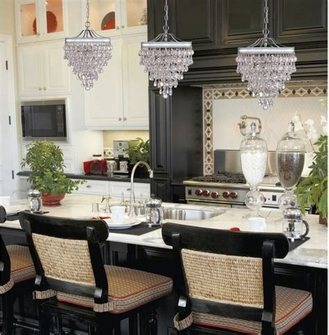 Contemporary Kitchen Chandeliers by Calypso Glass Drop Pendant Chandelier