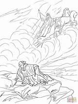 Elijah Heaven Coloring Chariot Fire Taken Bible Elisha Printable Chariots Sunday Drawing Crafts Gates Colouring Activities Prophet Children Verse Activity sketch template