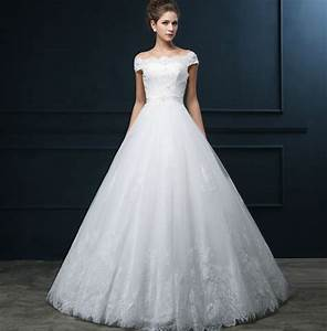 aliexpresscom buy white lace tulle strapless sleeveless With boat wedding dress