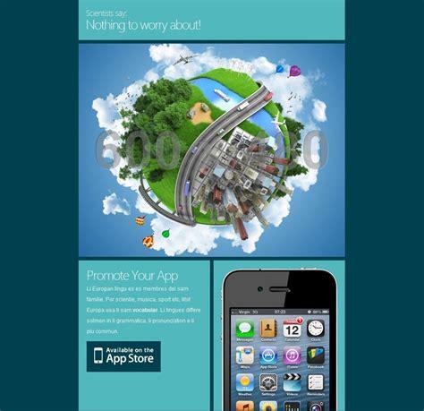 mobile newsletter template   sample