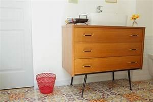beautiful meuble vasque salle de bain vintage images With salle de bain design avec bonde vasque