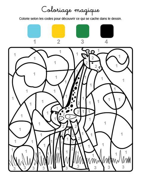 coloriage magique dun animal au long