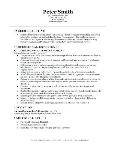 sales resume objective sales representative resume