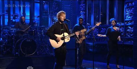 ed sheeran performs sing debuts dont