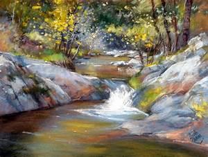 Peindre Au Pastel : ruisseau de petits chemins prairies et ruisseaux ~ Melissatoandfro.com Idées de Décoration