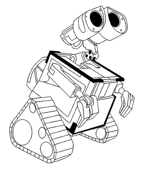 robot wall  az colorare