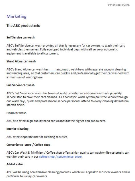 write  car wash business plan