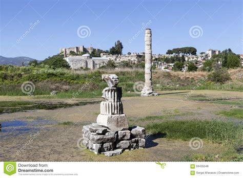 Temple Of Artemis Selcuk Turkey Stock Photo Image Of