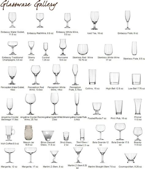 Types Of Barware by Types Of Bar Glasses And Their Uses Les Baux De Provence
