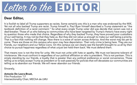 letter to the editor exle letter to editor format for letter to the editor best 33051