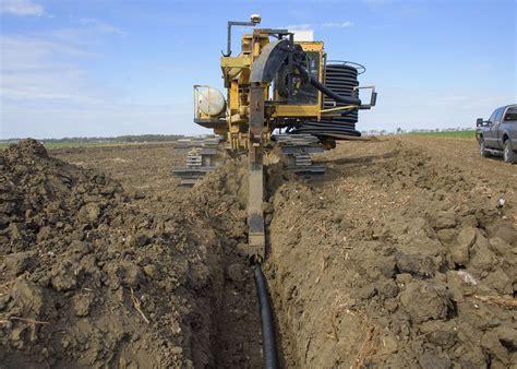 drain tiles allow earlier planting on soggy fields