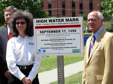 North Carolina High Water Mark Signs
