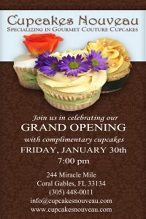 cupcakes nouveau grand opening soiree   cupcake