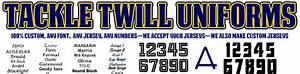 tackle twill jerseys With custom tackle twill lettering