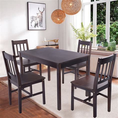 kitchen table and chairs set solid wooden pine dining table and 4 chairs set kitchen