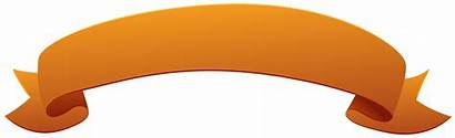 Banner Orange Clipart Banners Ribbons Transparent Anchor