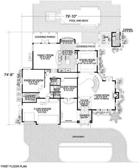 5 Bedroom 6 Bath Coastal House Plan #ALP 01AY Coastal