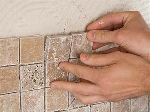 How to install a tile backsplash hgtv for Installing kitchen backsplash