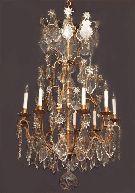antique baccarat and ormolu chandelier