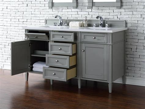 vanity top no sink james martin brittany collection 60 quot double vanity urban gray