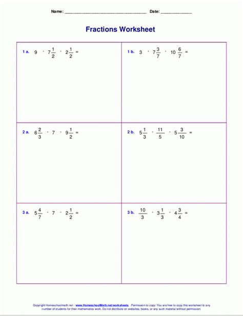 operations with fractions worksheet homeschooldressage