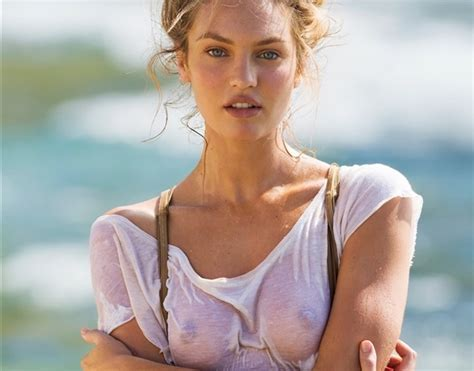 Candice Swanepoel Showing Her Nips In Maxim Outtakes