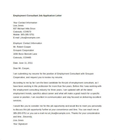10 job application letter templates for employment pdf