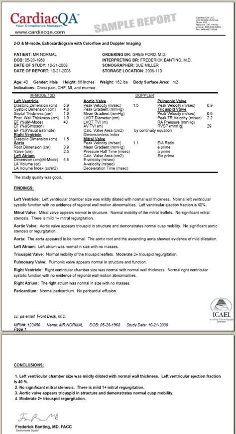 cardiacqa cardiology reporting icanl accreditation