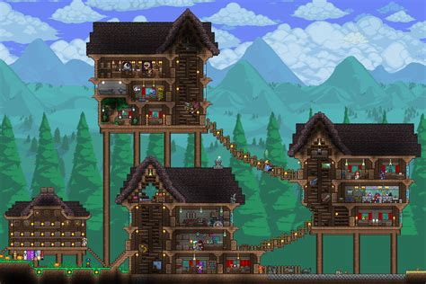 expert hardmode base town terraria pomysly  gry