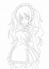Maid Anime Drawing Kawaii Drawings Maids Sparad Fran Uploaded sketch template